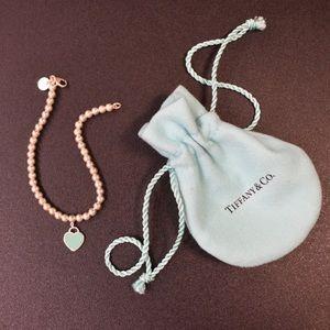 Return to Tiffany Blue Enamel Mini Tag Bracelet